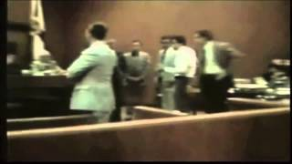 Rare courtroom footage of Ted Bundy losing his temper.