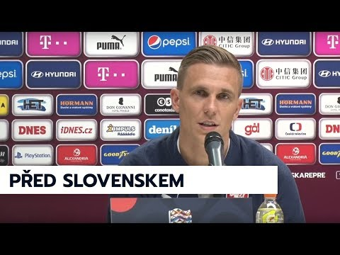 Tisková konference před zápasem se Slovenskem