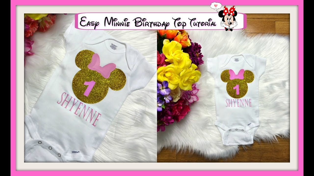 How To Make Custom Name Minnie Mouse Birthday Shirt