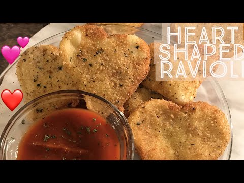 HEART SHAPED- FRIED CHEESE RAVIOLI