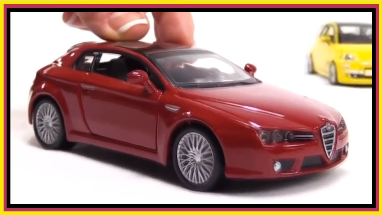 Childrens Toys Videos Toy Cars SPAGHETTI Bburago ALFA ROMEO - Alfa romeo model cars