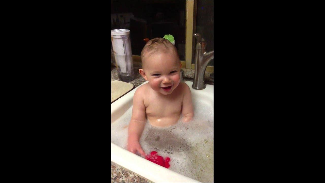 Sink bath! - YouTube