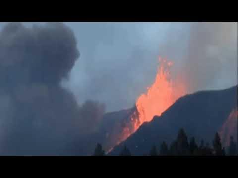 पचास साल बाद ला पाल्मा ज्वालामुखी में फिर से विस्फोट