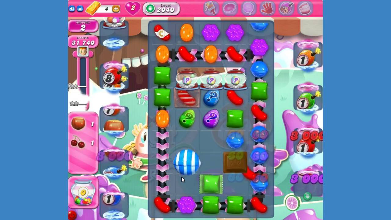 how to finish level 2040 candy crush