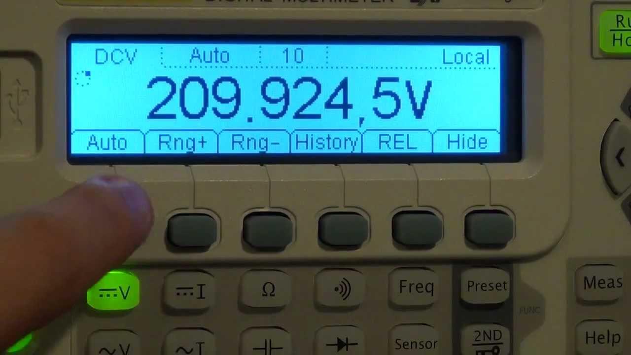 Tsp 12 Rigol Dm3068 65 Digit Digital Multimeter Review Youtube Voltmeter Cr7 Green