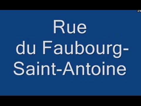 Rue du Faubourg Saint Antoine Paris Arrondissement 11e, 12e