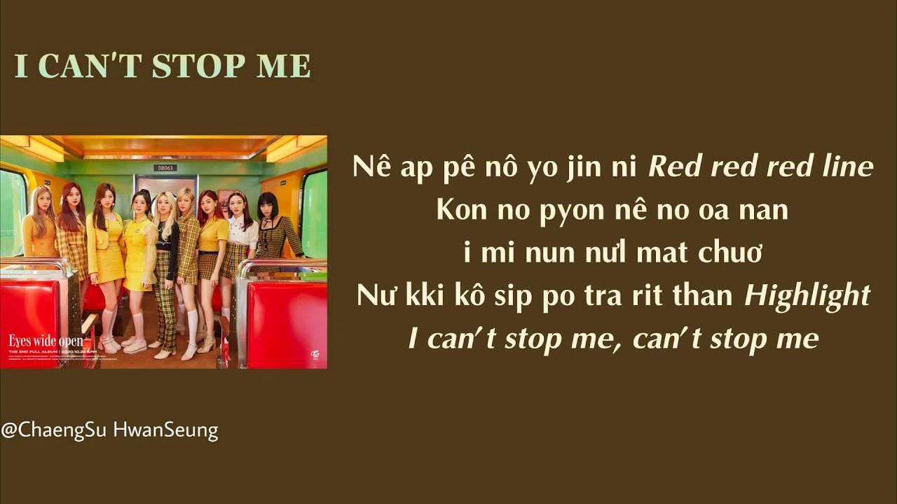 [Phiên âm tiếng Việt] I CAN'T STOP ME - TWICE