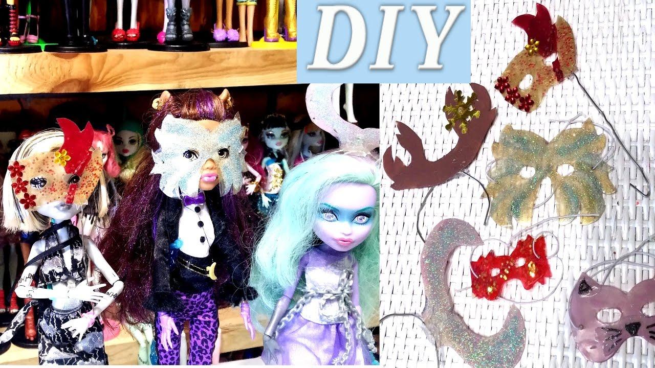 Как сделать маску для кукол