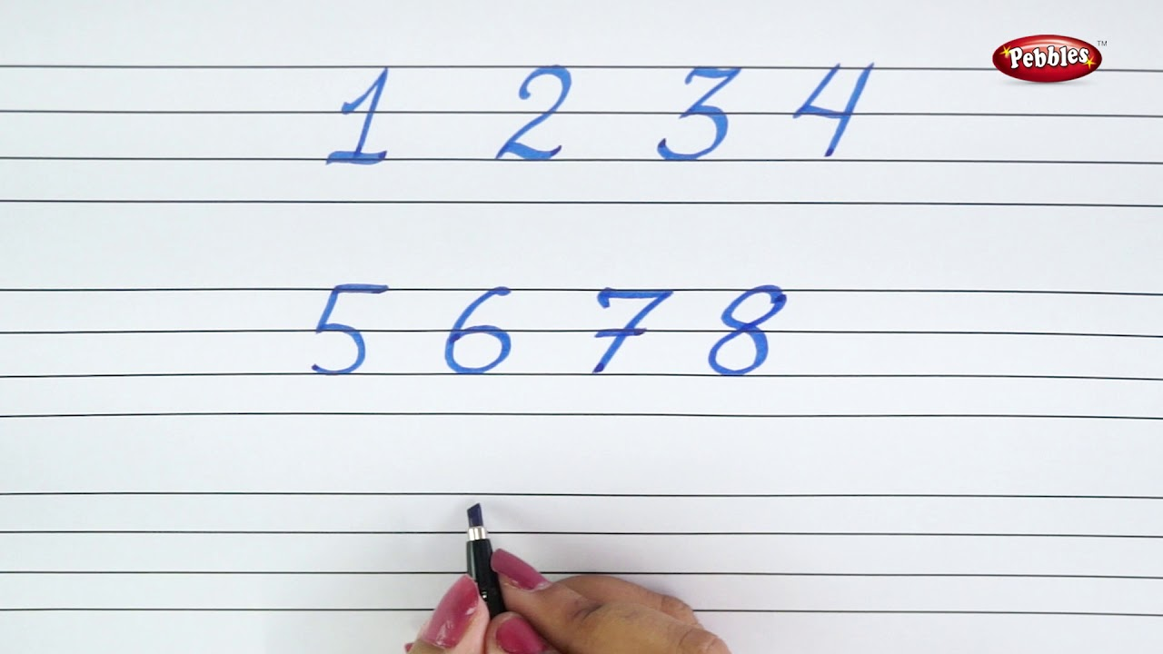 Calligraphy Basics Writing Numbers In Calligraphy Learn Calligraphy For Beginners Youtube
