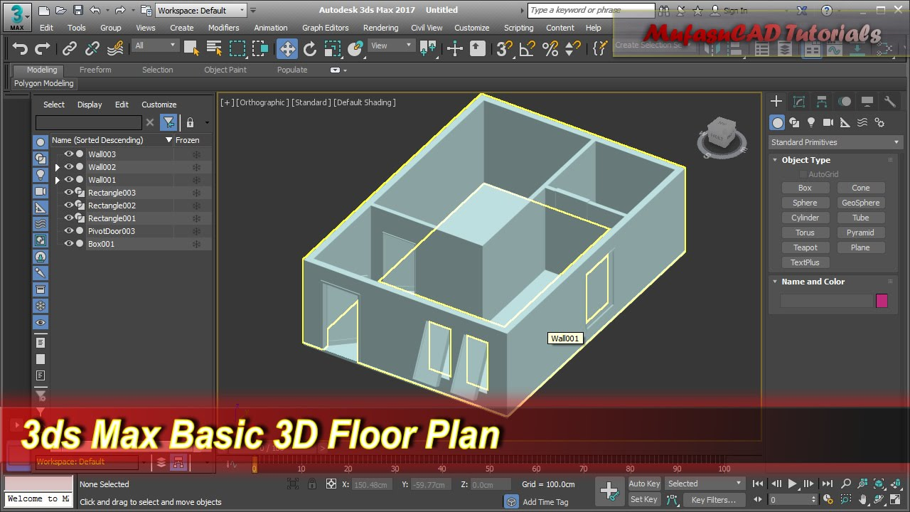 3ds Max Basic 3d Floor Plan Modeling