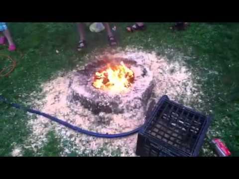 Tree Stump Firepit Youtube