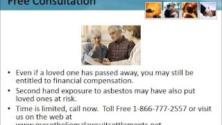 Lung Cancer Lawsuit Florida 1-866-777-2557 Asbestos Cancer Lawyers FL