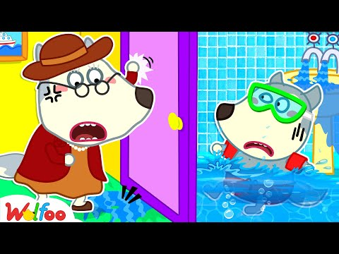 Wolfoo, Don't Waste Water to Play! - Yes Yes Save the Earth - Good Habits for Kids | Wolfoo Channel