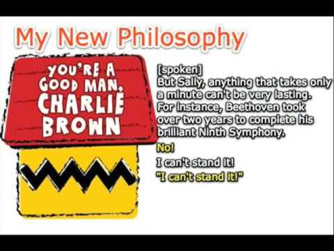 My New Philosophy - You're A Good Man, Charlie Brown - Karaoke/Instrumental [w/ lyrics]