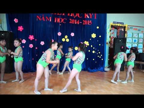 Nhảy Aerobic Cười lên bạn nhé Trường mầm non Hoa Hồng Đỏ