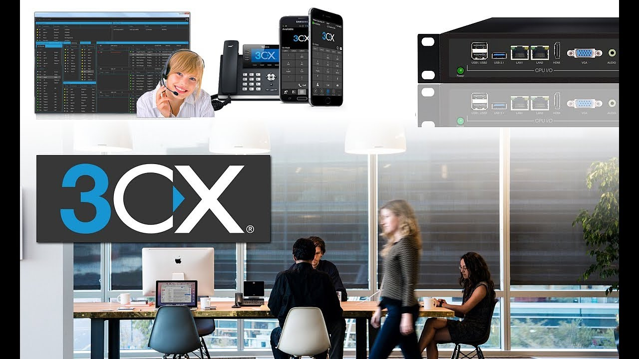 3CX PBX System -Business Telephone System with Call Center Support