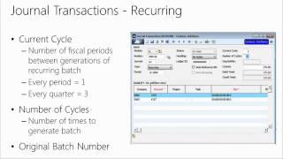 Financials in Microsoft Dynamics SL 2015