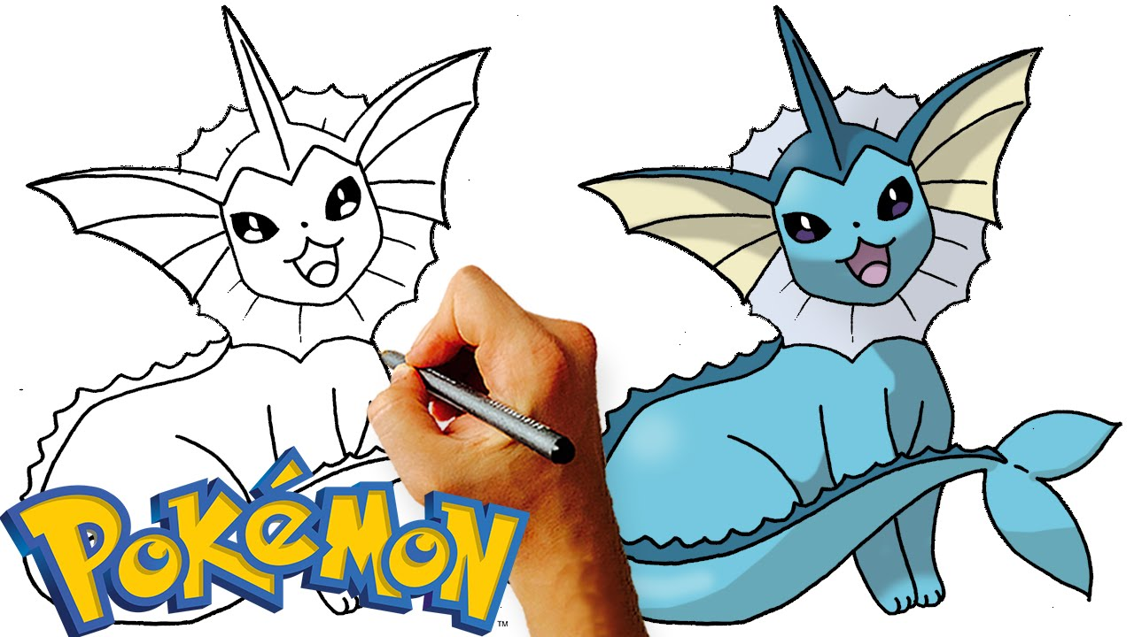Uncategorized How To Draw Vaporeon how to draw vaporeon pokemon step by art lesson youtube