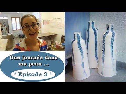 """""""Une journée dans ma peau"""" ▶ Fabrication d'un GRAND Vase !"""