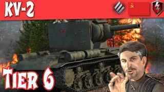 KV2 Full Tank Review Soviet Tier 6 Heavy ||WOT Blitz||