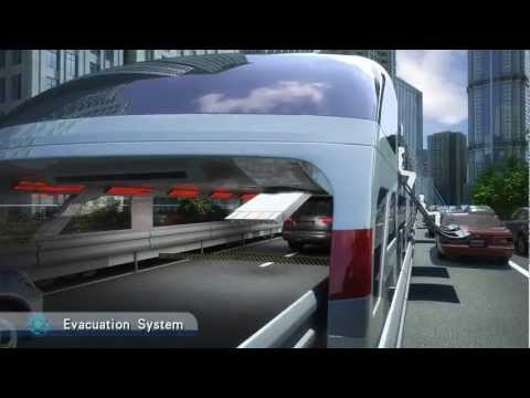 Incredible way of future transportation-Straddling Bus(3D bus)