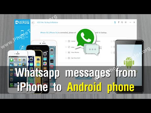Transfer whatsapp messages from iphone to android using pc