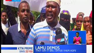 Farmers in Lamu hold demos in the island in support of government projects being implemented