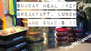Sunday WW Meal Prep - Weight Watchers - Breakfast, Lunch & Snacks !!