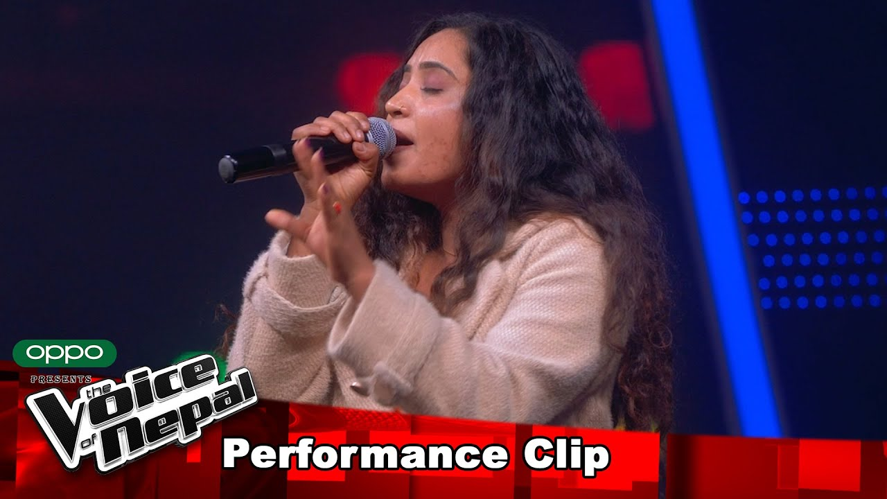 "Pramila Ranapayali (Sangeeta) ""Kasari Vanu Ma…""| Blind Audition Performance | The Voice of Nepal S3"