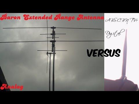 Baron Extended Range Antenna (Analog) vs. ABS-CBN TVplus (Digital)