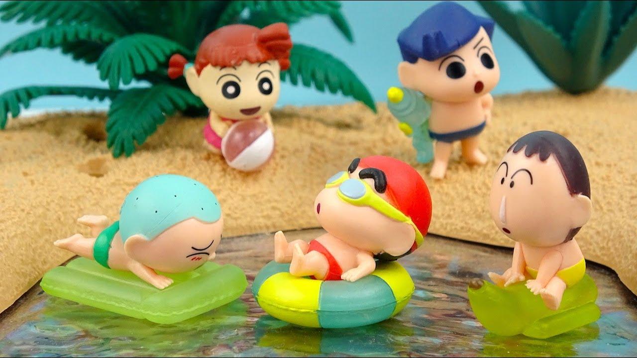 蠟筆小新扭蛋之小新和夥伴們去水邊玩水啦!クレヨンしんちゃん みずあそび隊 Crayon Shinchan