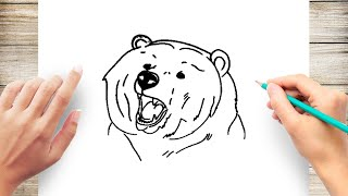 How to Draw a Bear Face Step by Step for Kids