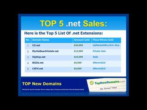 TOP Domain Sales - 13 December 2010 - 19 December 2010
