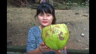 Cooking skills | Banana recipes with coconut juice | survival skills
