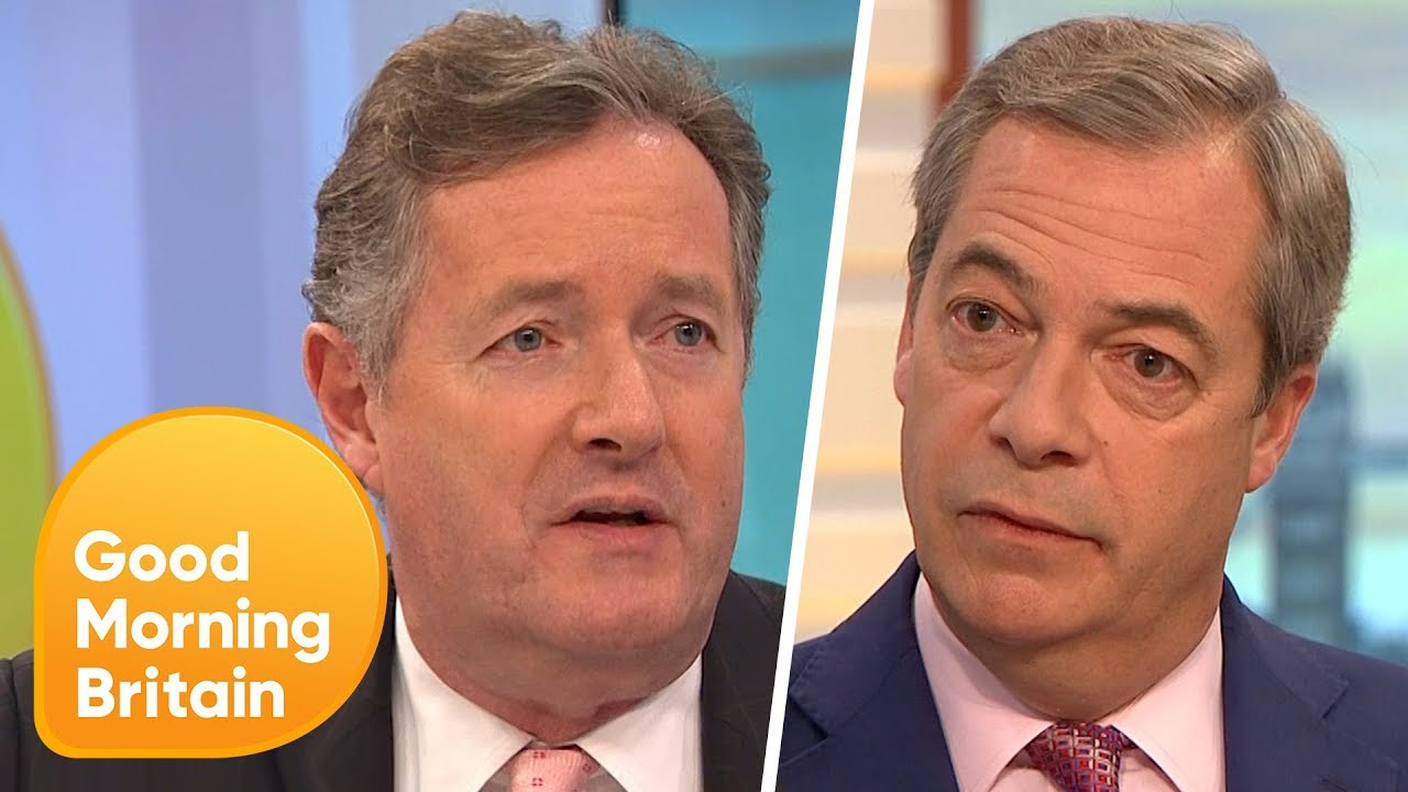 Nigel Farage Says The Uk Morally Owes The Eu 25 Billion Good Morning Britain