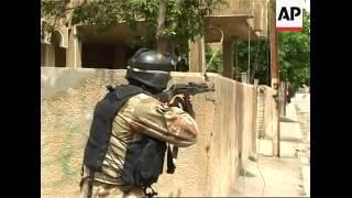 Baghdad AP embedded pix of US forces patrolling streets