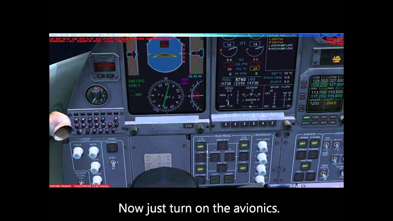 How to Start the Default Learjet 45 FSX
