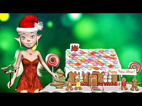 Happy New Year 2018! Gingerbread House from Santa Girl Fairy - Прикольное видео онлайн