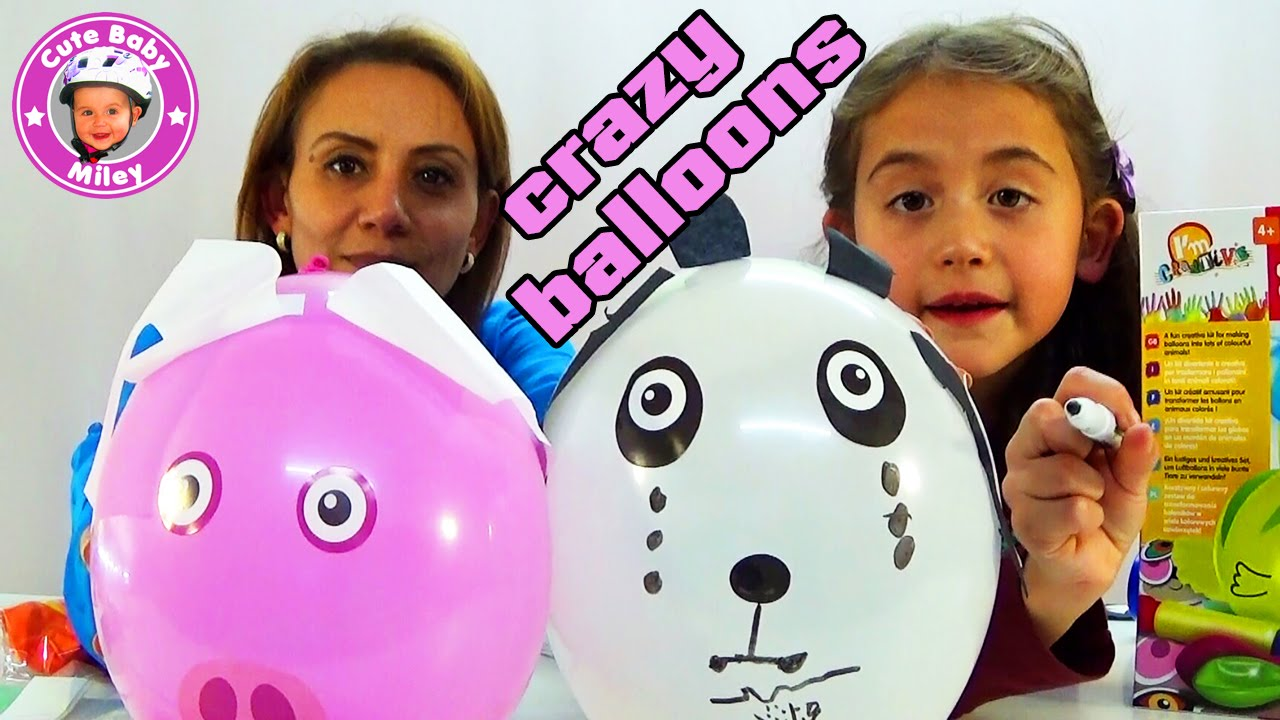 crazy balloons wir basteln lustige tiere mit luftballons kanal f r kinder youtube. Black Bedroom Furniture Sets. Home Design Ideas