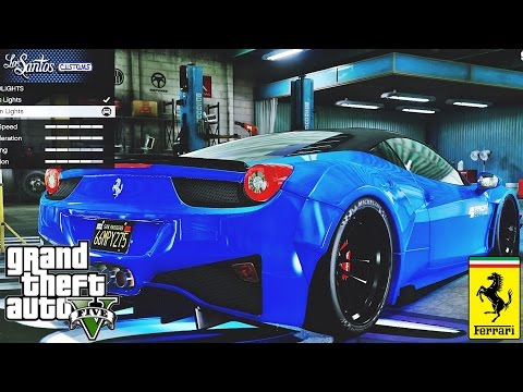 Prior Design Ferrari 458 Widebody tuning 🚗 GTA V ☢ Redux Extreme Graphics !!!