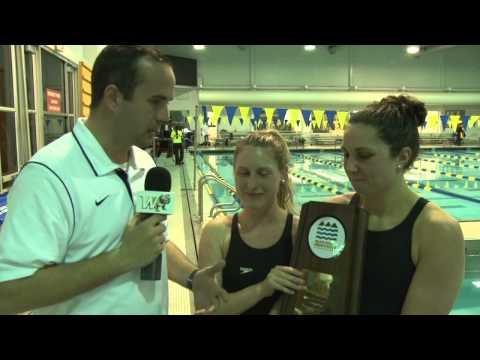 2014 Wingate Swimming - BMC post meet interview with senior captains Amanda Gilbert & Kati Budnik