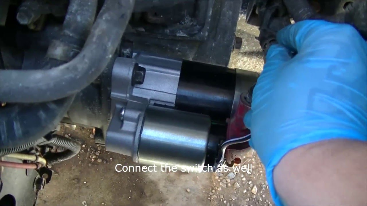 2002 nissan maxima how to replace the starter starter solenoid rh youtube com