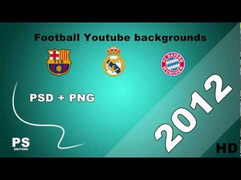 Football YouTube backgrounds [psd + png free download] HD