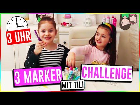 3 MARKER CHALLENGE um 3 UHR NACHTS? Ava und Tili von Oh Gott diese Familie