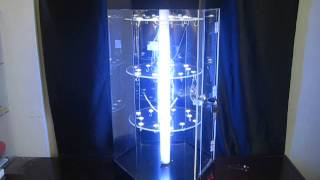Acrylic display cabinet , acrylic display stand rotating with LED light