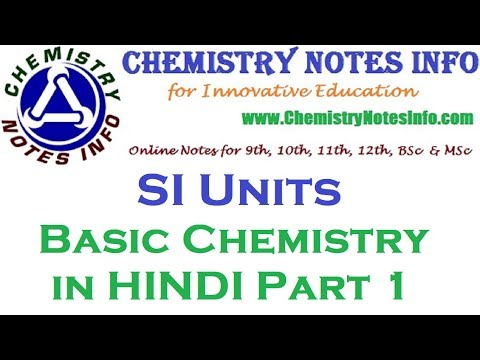 Chemistry Notes in Hindi Medium | Chemistry Notes Info - Chemistry Tutor