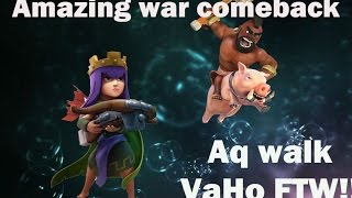 Clash of Clans Awesome War Comeback