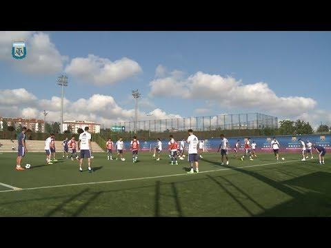 La selección Argentina entrena en Barcelona de cara al amistoso con Israel