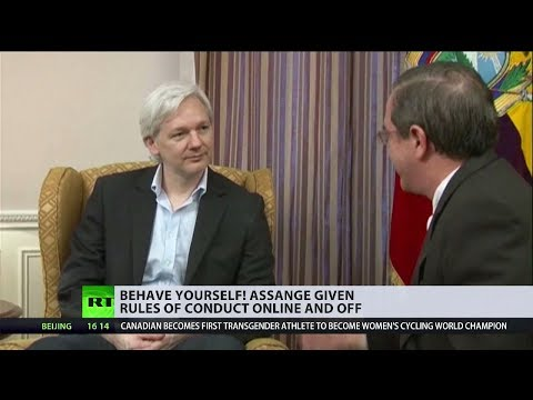 Behave yourself! Assange given rules of conduct online and off