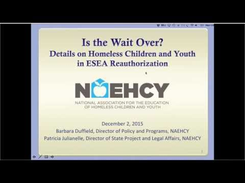 Is the Wait Over? Details on Homeless Children and Youth in ESEA Reauthorization